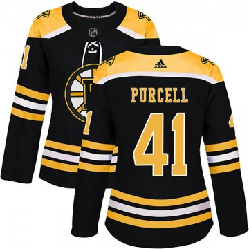 Authentic Adidas Women's Teddy Purcell Boston Bruins Home Jersey - Black
