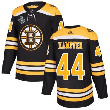Authentic Adidas Youth Steven Kampfer Boston Bruins Home 2019 Stanley Cup Final Bound Jersey - Black