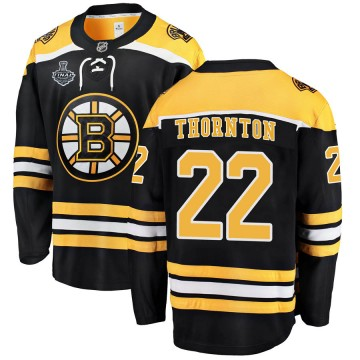 Breakaway Fanatics Branded Men's Shawn Thornton Boston Bruins Home 2019 Stanley Cup Final Bound Jersey - Black