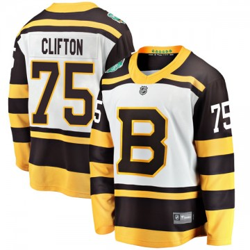 Breakaway Fanatics Branded Youth Connor Clifton Boston Bruins 2019 Winter Classic Jersey - White